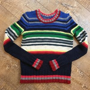 American Eagle Colorful Striped Crewneck Sweater